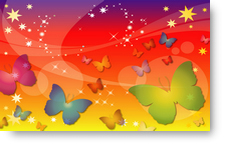 Brightly Coloured Butterflies - background