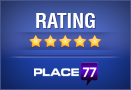 Place77 - 5 out of 5 Star Rating!