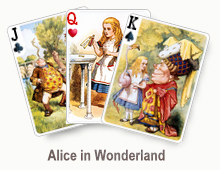 Alice in Wonderland - card set