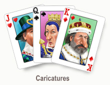 Caricatures - card set