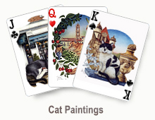 Cat Paintings - card set