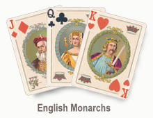 English Monarchs - card set