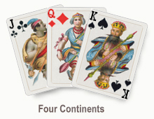 Four Continents - card set