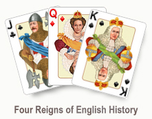 Four Reigns of English History - card set