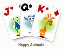 Happy Animals - card set