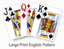 Large Print English Pattern - card set