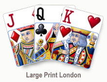 Large Print London - card set