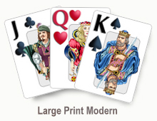 Large Print Modern - card set