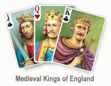 Medieval Kings of England - card set