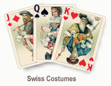 Swiss Costumes - card set