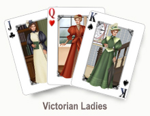 Victorian Ladies - card set