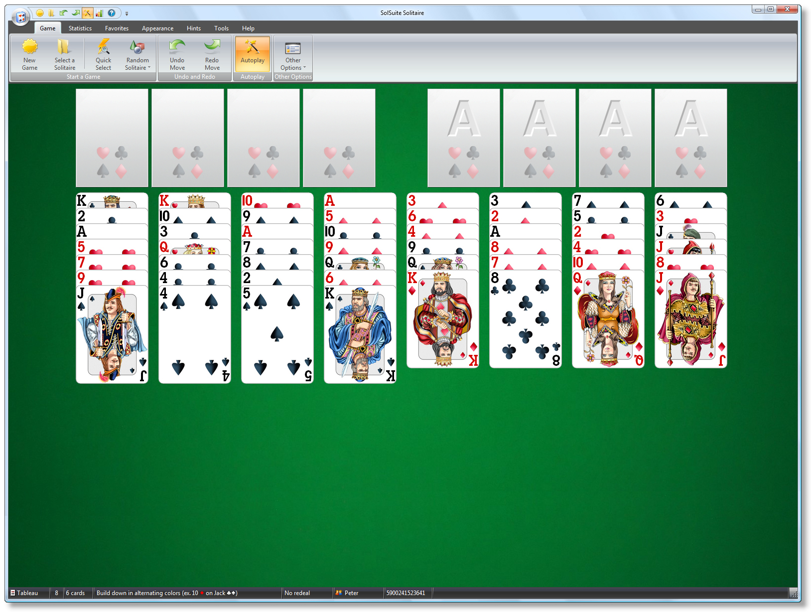 SolSuite Solitaire - FreeCell screenshot 1600x1200