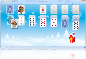 SolSuite Solitaire Christmas Skin screenshot - Click here to enlarge