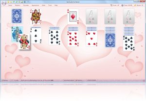 SolSuite Solitaire Hearts Skin screenshot - Click here to enlarge