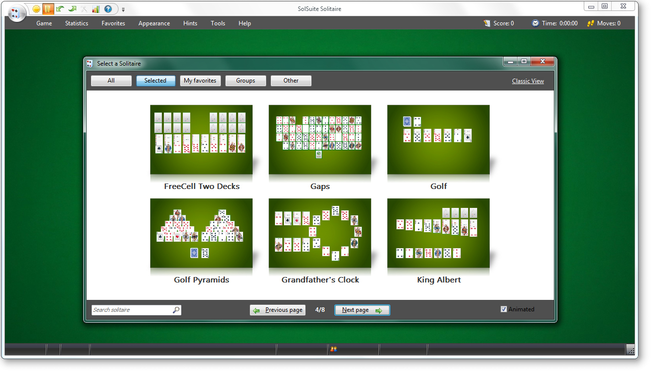 Solitaire Card Games Suite Screenshot