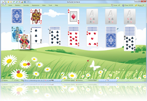 SolSuite Solitaire Springtime Skin screenshot - Click here to enlarge
