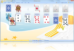 SolSuite Solitaire Summertime Skin screenshot - Click here to enlarge