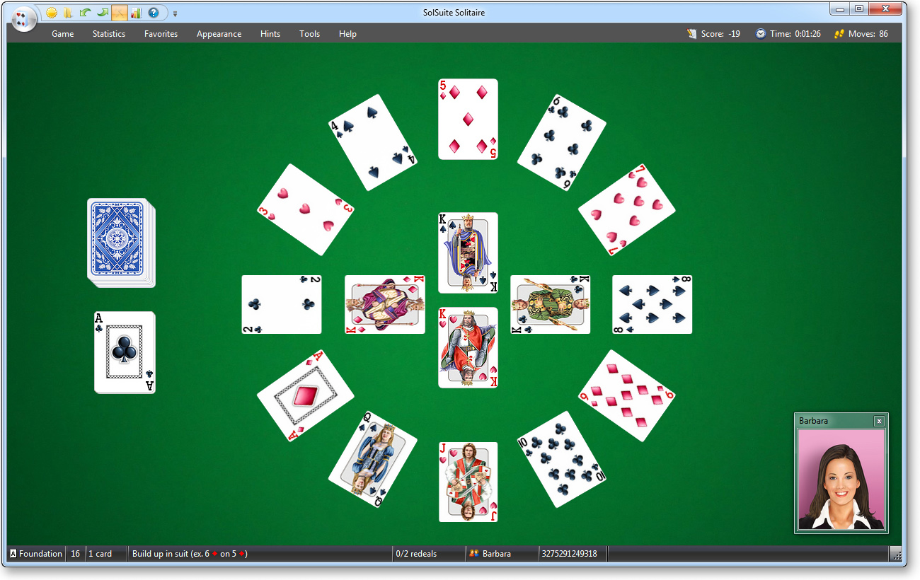 Click to view SolSuite Solitaire 12.6 screenshot